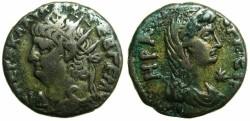 Ancient Coins - EGYPT.ALEXANDRIA.Nero AD 54-68.Billon Tetradrachm.struck AD 67/68.~#~.Hera Argeia.