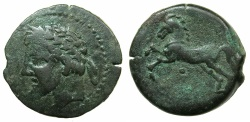 Ancient Coins - NUMIDIA.Massinissa or Micipsa circa 203-148-118 BC.AE.25.6mm.