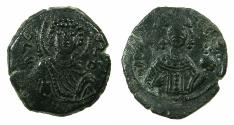 Ancient Coins - BYZANTINE EMPIRE.Manuel I Comnenus AD 1143-1180.AE.Tetarteron. Mint of THESSALONIKA.