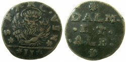 World Coins - ITALY.VENICE.Dalmatia and Albania.Anonymous.AE.Gazzetta N.D issued by Decree 20th Feb.1710