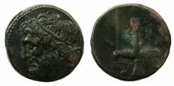 Ancient Coins - SICILY.Syracuse.Hieron II 274-216 BC.AE.19.3mm