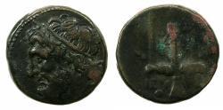 Ancient Coins - SICILY.Syracuse.Hieron II 274-216 BC.AE.19.3mm