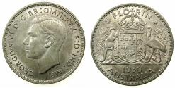World Coins - AUSTRALIA.George VI 1937-1952.I.AR.Florin 1938.