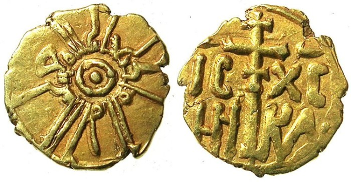 Ancient Coins - ITALY.SICILY.Roger II AD 1105-1154.AV.Tari.reformed coinage 1140-1154.Palermo mint.