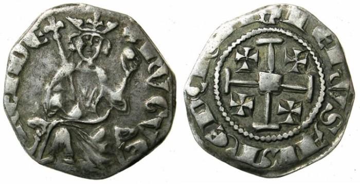 Ancient Coins - CRUSADER.CYPRUS.Hugh IV AD 1324-1359.AR.Gros Petit.