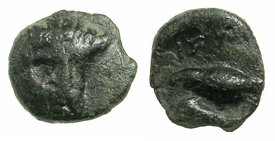 Ancient Coins - MOESIA.ISTRUS.Circa 4th-3rd Cent.BC.AE.13.3mm.