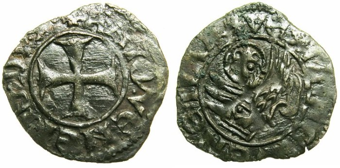 Ancient Coins - CRUSADER.GREECE under VENICE.Antonio Venier AD 1382-1400. Bi.Tornesello