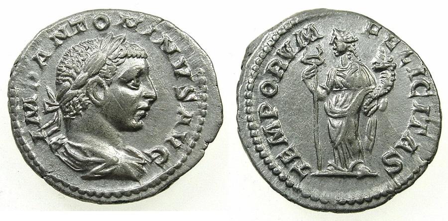 Ancient Coins - ROME.IMPERIAL.Elagabalus AD 218-222.AR.Denarius undated issue.Mint of ROME.