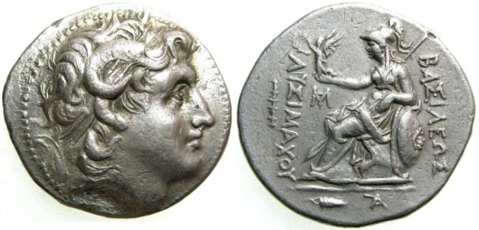 Ancient Coins - THRACE.Lysimachus 305-281 BC.AR.Tetradrachm.Posthumus issue.Mint of CHIOS.