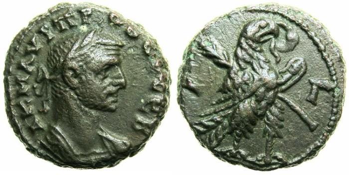 Ancient Coins - EGYPT.ALEXANDRIA.Probus AD 276-282.Billon Tetradrachm.AD 277/278.~#~Eagle right.