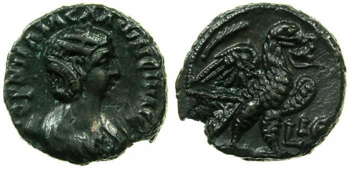 Ancient Coins - EGYPT.ALEXANDRIA.Cornelia Salonina, wife of Gallienus AD 253-268.Billon Tetradrachm, struck AD 267/68.~#~.Eagle standing right.