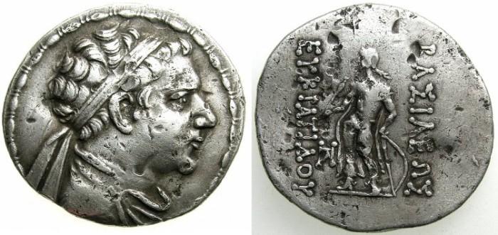 Ancient Coins - BAKTRIA.Eukratides II circa 145-140 BC.AR.Tetradrachm.Apollo.