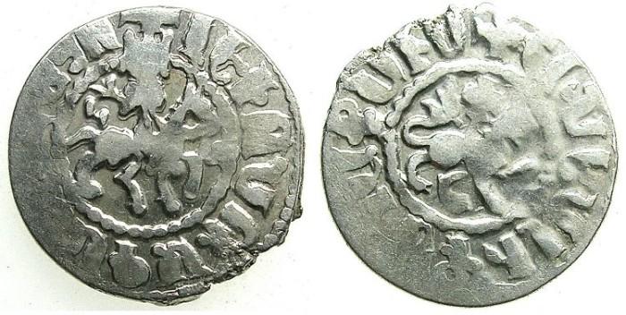 Ancient Coins - CILICIAN ARMENIA.Levon IV 1320-1342.AR.Takvorin.Sigla G -M. Mint of Sis.