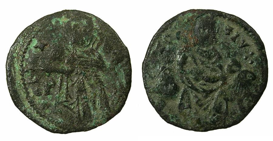 World Coins - ULCINJ ( Montenegro ), Protectorate under SERBIA.Stefan Uros IV Tsar AD 1346-1355.AE.Follaro. *** RARE ***