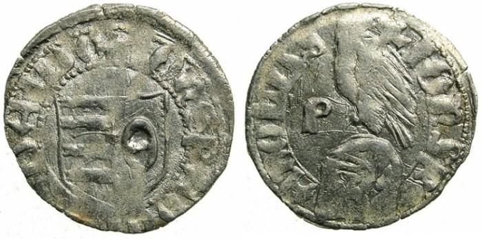 Ancient Coins - ROMANIA.Voivodes of WALLACHIA.Radu I AD 1377-1383.Bi.Denier.