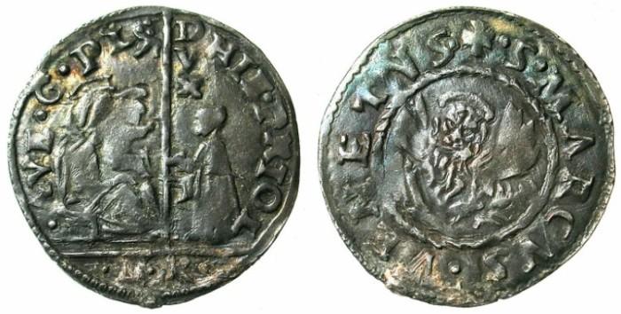 Ancient Coins - ITALY.VENICE.Gerolamo Priuli 1559-1567.AR.2 Soldi.