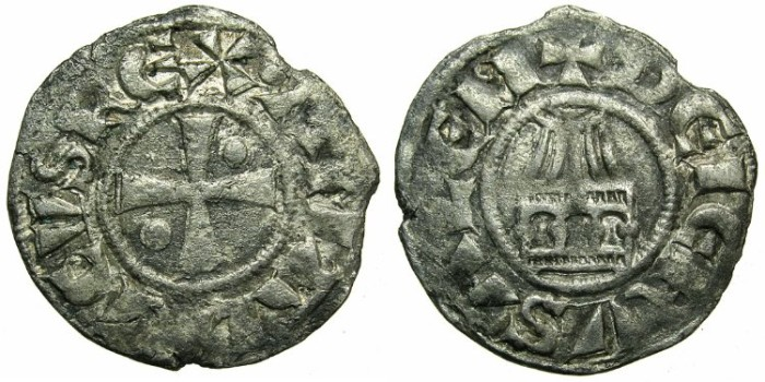 Ancient Coins - CRUSADER.Kingdom of JERUSALEM.Amaury AD 1163-1174.Bi.Denier.~#~Holu Sepulchre.