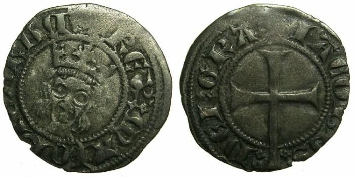 Ancient Coins - SPAIN.MALLORCA.James III AD 1324-1342.Billon Dinero.