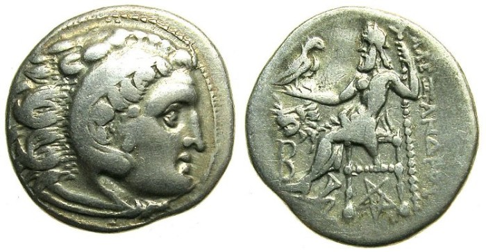 Ancient Coins - MACEDON.Alexander III The Great 336-323 BC.AR.Drachma.Mint of COLOPHON.struck Circa 301-297 BC.