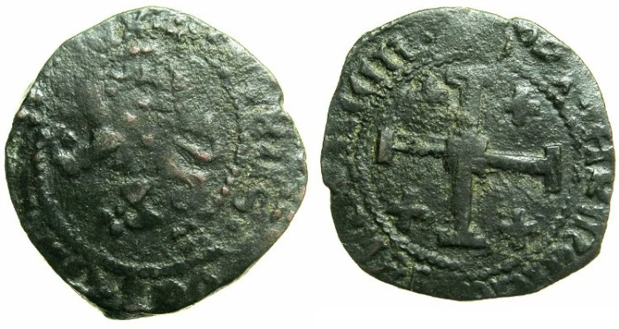 World Coins - CRUSADER STATES.CYPRUS.James II AD 1460-1473.AE.Sezin. ~#~ with ARMENIAN title in full.