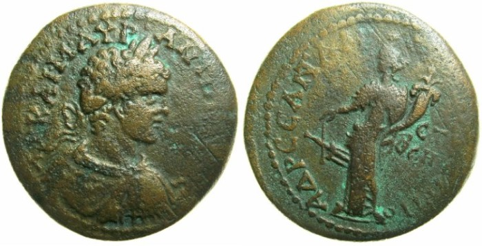 Ancient Coins - PONTUS.AMASIA.Caracalla Augustus AD 198-209.AE.30.5mm.Struck AD 206/7.~#~.Tyche standing.