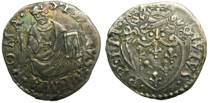 World Coins - ITALY.VATICAN.Pope Paul III AD 1534-1549.AR.Quartro di  Grosso.~~~Half length figure of Saint Peter.