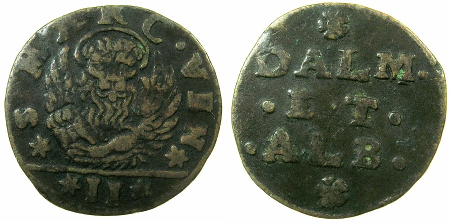 World Coins - ITALY.VENICE.Dalmatia and Albania.Anonymous.AE.Gazzetta N.D issued by Decree 20th Feb.1710