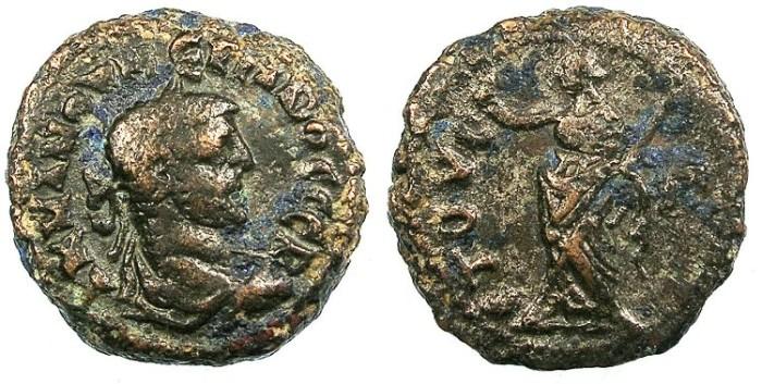 Ancient Coins - EGYPT ALEXANDRIA.Numerian AD 283-284.Bi.Tetradrachma.Eirene