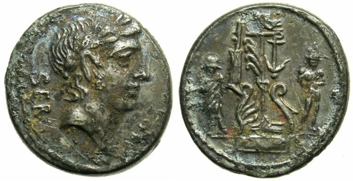 Ancient Coins - ROME.REPUBLIC.Servius Sulpicius 51 BC.AR.Fouree Denarius.