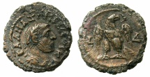 Ancient Coins - EGYPT.ALEXANDRIA.Maximianus Gallerius AD 293-311, as Caesar AD 293-305.Billon Tetradrachm, struck AD295/6.~#~.Eagle standing on thunderbolt.