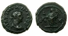 Ancient Coins - EGYPT.ALEXANDRIA. Maximianus Heraclius AD 286-305.Billon tetradrachm, struck AD 291/292. Reverse. Dikaiosyne ( Justice ) standing, officina B.