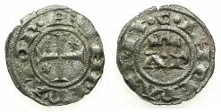 World Coins - ITALY.SICILY.Henry VI AD 1194-1197 with Constance 1194-1196.Billon.Denaro.Mint of BRINDISI