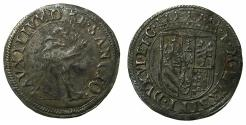 World Coins - ITALY.URBINO.Francesco Maria II AD 1574-1624.AR.Mezzo Giullio. Saint Frances recieving the stigmata
