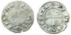 World Coins - CRUSADER STATES.Principality of ANTIOCH. Bohemond III or IV c.1149-1233 Bi.Denier. Class C .
