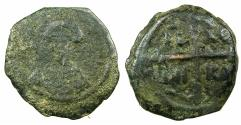 World Coins - CRUSADER STATES.Principality of Antioch.Tancred AD 1104-1112.AE.Follis.2nd Type