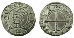 "World Coins - FRANCE.PROVENCE.Alfonso II of Aragon AD 1196-1209.Billon.Denier. ""Exceptional grade, Extremely fine or better """