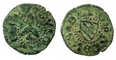 World Coins - ITALY.GUBBIO.Guildobaldo I of Montrefelto AD 1482-1508.AE.Picciolo.