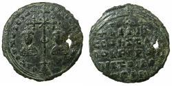 World Coins - RUSSIA.KIEVAN.Principality of TMUTARAKAN.Mstislav Volodimivorich Khonory AD 990-1024.AE.Milliaresion.Imitative after Byzantine Basil II ( AD 976-1025 ).
