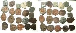 Ancient Coins - PSEUDO BYZANTINE, ARAB BYZANTINE AND EARLY OMAYYAD ISSUES. Group of 21 AE.Fals ( Folles ).