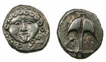 Ancient Coins - BLACK SEA.Apollonia Pontika.Mid to Late 4th cent BC.AR.Drachma.