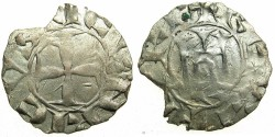 World Coins - CRUSADER STATES.CYPRUS.Henry I AD 1218-1253.Billon Denier.