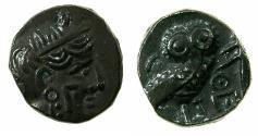 Ancient Coins - ARABIA, Southern.Qataban.Unkown ruler circa 350-320/00 BC.AR.Hemidrachm.