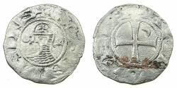 World Coins - CRUSADER STATES.Principality of ANTIOCH. Bohemond III or IV c.1149-1233 Bi.Denier. Class D?