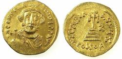 Ancient Coins - BYZANTINE EMPIRE.Constans II AD 641-668.AV.Solidus.Struck AD 648/49.Mint of CONSTANTINOPLE. *Indiction year 7 ( AD 648/49 ), amongst a small group of Byzantine dated gold coins.*