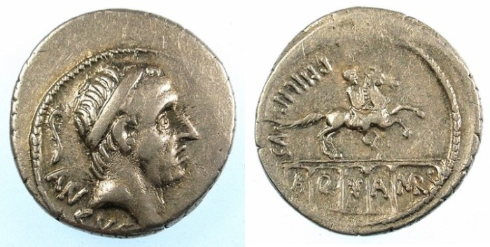 Ancient Coins - ROME.REPUBLIC.L.Marcius Philippus 56BC.AR.Denarius.Reverse.The Aqua Marcia