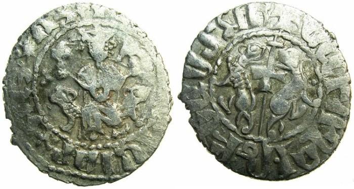 Ancient Coins - CILICIAN ARMENIA.Levon I AD 1198-1219 or Levon II Coronation AD 1270-1289.AR.Tram.