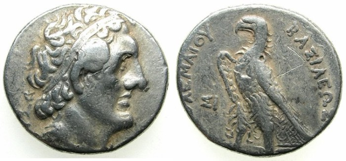 Ancient Coins - PTOLEMAIC EMPIRE.PHOENICIA.Ptolemy II Philadelphus 285-246 BC.AR.Tetradrachm.Struck 266/5 BC.Mint of SIDON.