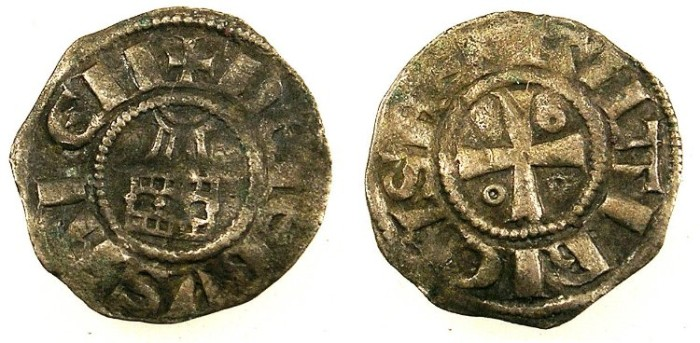 Ancient Coins - CRUSADER.Kingdom of Jerusalem.Amaury 1162-74.Bi.Obol