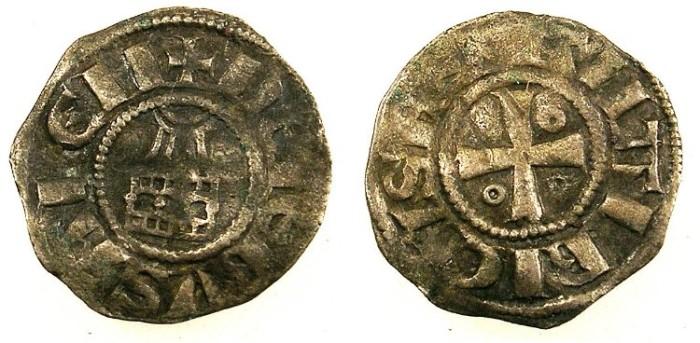 Ancient Coins - CRUSADER.Kingdom of Jerusalem.Amaury 1162-74.Bi.Obol