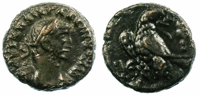 Ancient Coins - EGYPT.ALEXANDRIA.Gallienus AD 261-268.Bi.Tetradrachm.Eagle.